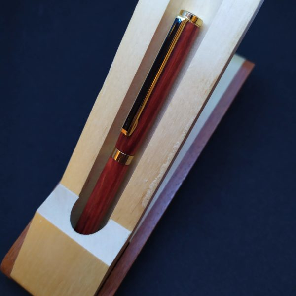 Boite stylo presentoir en bois