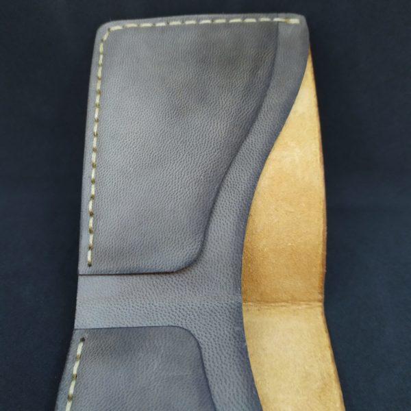 Porte feuille en cuir fait main
