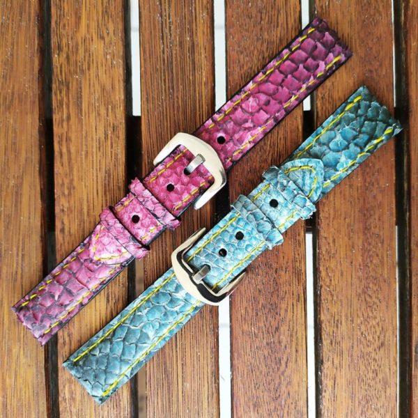 bracelet montre luxe saumon